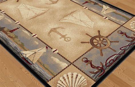 Tayse Seashore Nautical Rug In Beige Beyond Stores Nautical Rugs