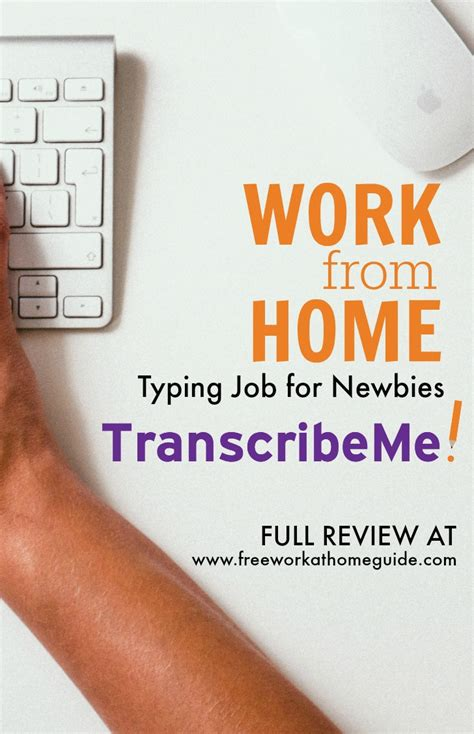 work from home typing for newbies at transcribe me