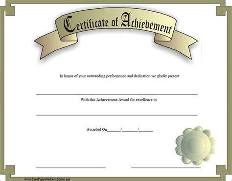 certificates of achievement templates certificate of achievement template 38 in psd