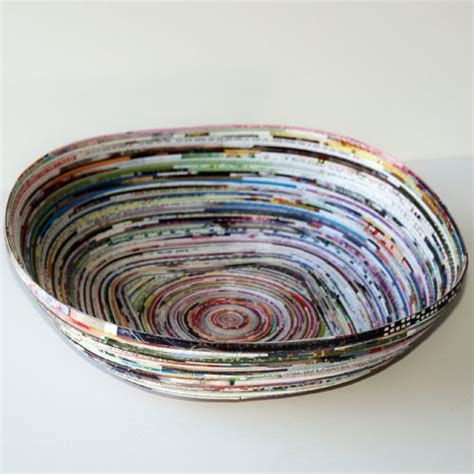 paper bowl crafts recycled paper bowl the possibilities are endless i