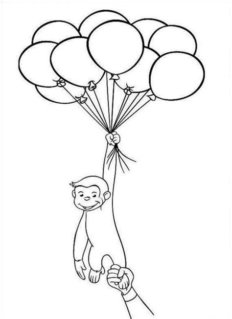 Curious George Coloring Pages Printable Coloring Home Printable Curious George Coloring Pages
