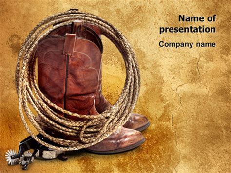 cowboy boots presentation template for powerpoint and