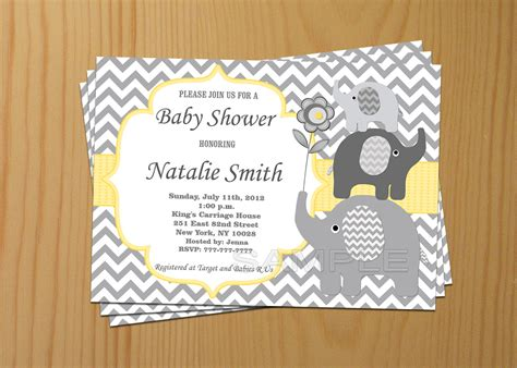 Design Baby Shower Invitations by Baby Shower Elephant Invitations Theruntime