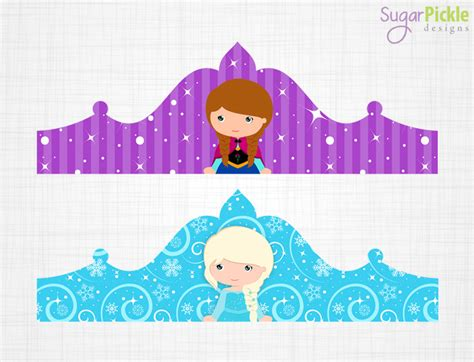 printable frozen crown template frozen crown printable birthday crown crown printable