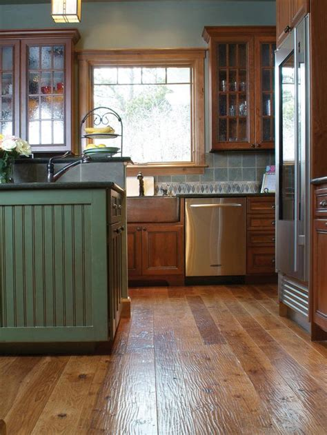 contemporary reclaimed wood kitchen cabinets wooden floor
