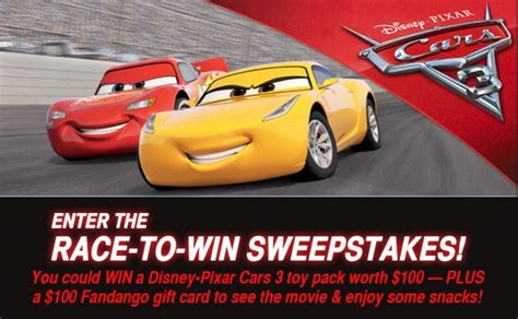 Cars 3 Sweepstakes - sweepstakeslovers daily mattel schlage more