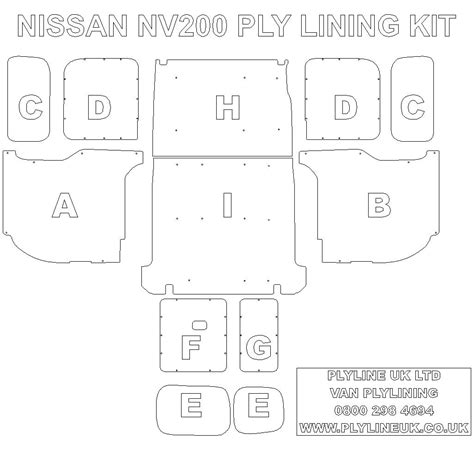 nissan nv200 template nissan nv200 van ply lining kit plyline uk ltdplyline uk ltd