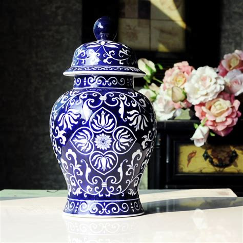 Blue And White America Style Ceramic Jars Antique Porcelain Temple Jars Home Decoration Popular Jar Buy Cheap Jar Lots From China Jar Suppliers On Aliexpress