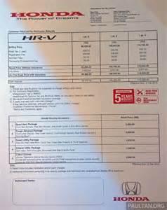 Honda Hrv Price 2015 Honda Hrv Price In Malaysia 2017 2018 Best Cars