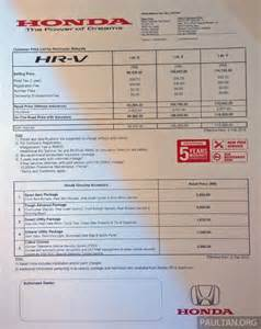Honda Hr V Price Honda Hrv Launch In India 2016 Car Release Date