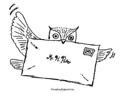 harry potter coloring book owl post harry potter unit worksheet owl post coloring page