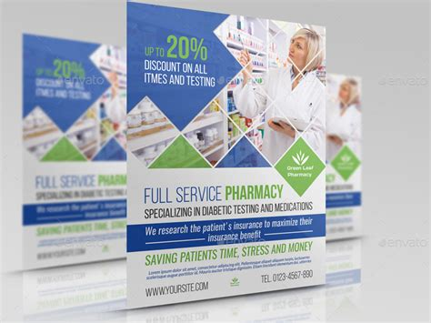 Pharmacy Flyer Template Vol 4 By Owpictures Graphicriver Pharmacy Flyer Template