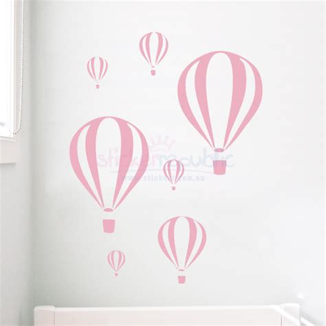 Air Balloons Wall Sticker seven air balloon wall sticker decal