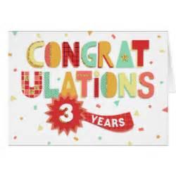 3 year anniversary cards zazzle