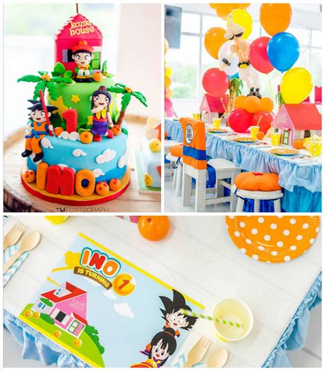 Christmas Place Settings by Kara S Party Ideas Dragon Ball Themed Birthday Party
