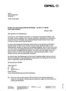 Bewerbung Anschreiben Audi Opel