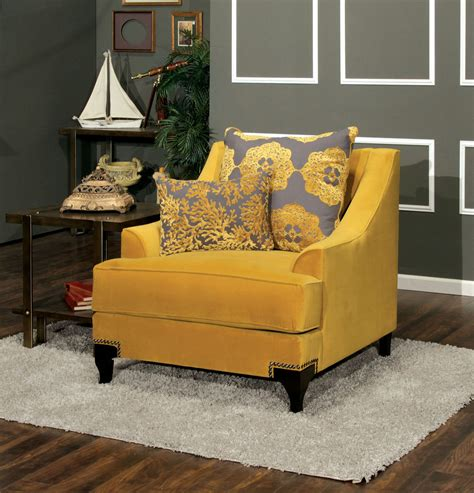 Gold Living Room Chairs Viscontti Gold Living Room Set From Furniture Of America Sm2201 Sf Coleman Furniture