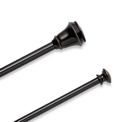 umbra double curtain rods umbra 174 bellair bronze double curtain rod set bed bath