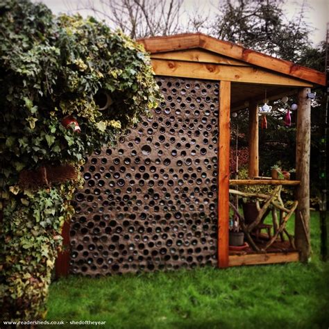 Eco Garden Sheds by The Bottle Hut Eco Shed From Garden Owned By Jean Price