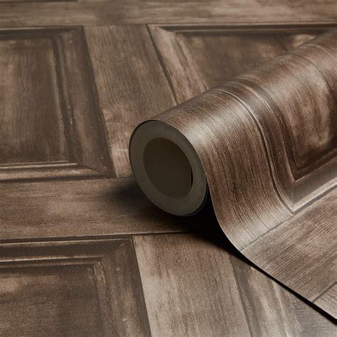 fine d233cor choc wood panel wallpaper departments diy