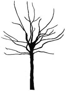 Leafless Tree Branch Outline by Bare Tree Silhouette Clipart Best