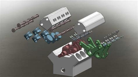 tutorial solidworks motor solidworks engine dissection and motion youtube