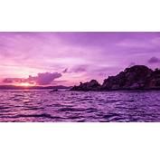 Purple Landscape  Sunset Over The Sea Wallpaper Download