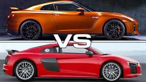 Audi R8 Vs Nissan Gtr 2017 Nissan Gt R Vs 2017 Audi R8 V10 Plus