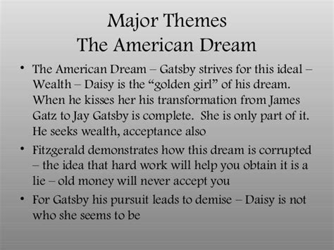 key themes of the great gatsby in class notes on the great gatsby