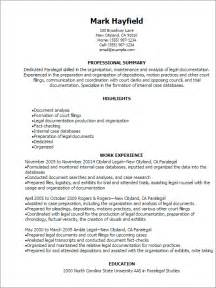 real estate paralegal resume