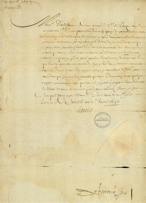 Lettre De Cachet De Louis Xiv Document Lettre De Louis Xiv 224 Louis D Aillebout R 233 Pertoire Du Patrimoine Culturel Du Qu 233 Bec