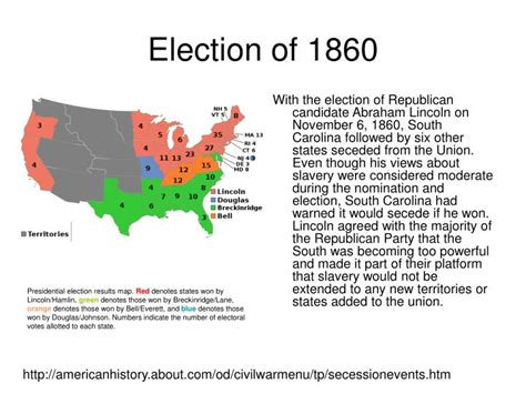 how did the election of 1860 increased sectional tensions election of 1860 bing images