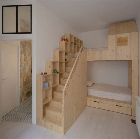 bunk beds in small bedroom small budget renovation reveals a loft s parisian charm