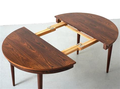 round dining room tables with extensions round hans olsen rosewood dining table with extension leaf