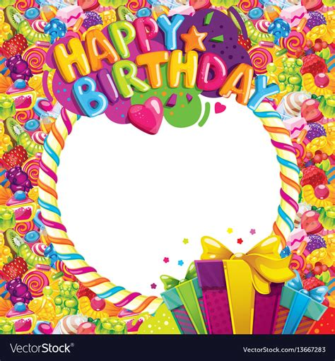 birthday color happy birthday color frame royalty free vector image