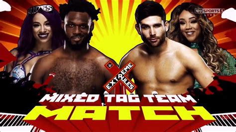 match card template tag team 2017 mixed tag team match official match