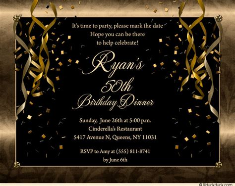 Engagement Home Decorating Ideas by Festive Birthday Party Invitations Golden Streamers