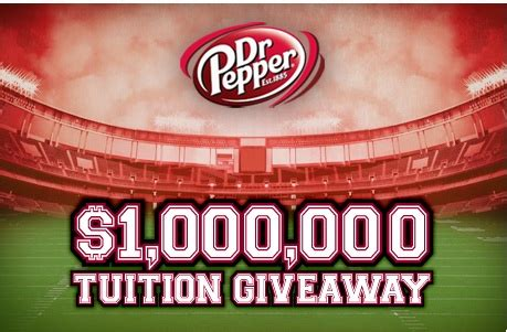Dr Pepper Tuition Giveaway Promotion And Contest - dr pepper scholarship weird scholarships
