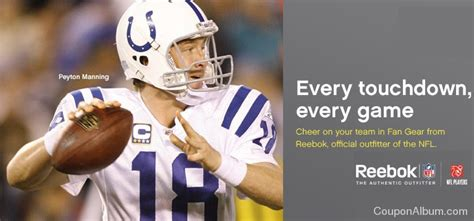 nfl fan shop com reebok exclusive coupon 15 off any order online