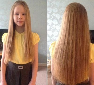 long 16 year old hairstyles girl cuts rapunzel like hair for a good cause little