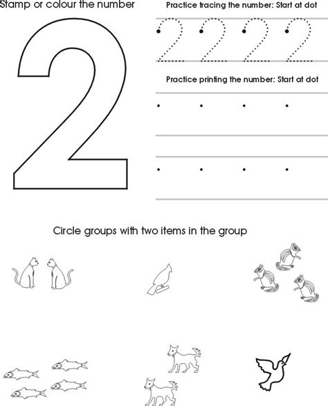 Preschool Number Worksheets by 25 Best Ideas About Number 2 On Preschool