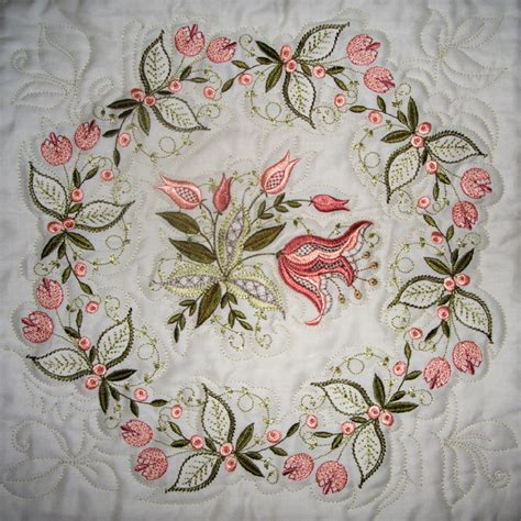 Machine Embroidery Quilt Patterns by Jacobean Embroidery Quilt Free Embroidery Patterns