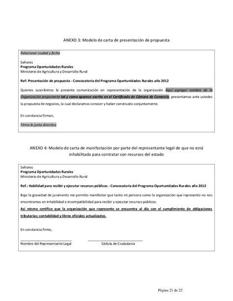 carta propuesta de contratacion formatos para presentaci 243 n de la propuesta