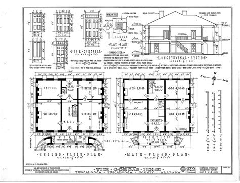 plan layout the gorgas house tuscaloosa al alabama architecture
