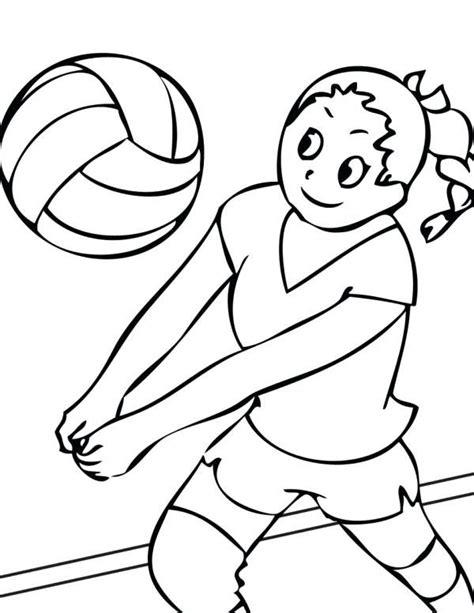 dibujos niños jugando voleibol voleibol para colorear nina jugando al voleibol dibujo de