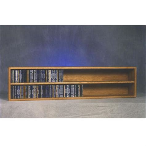 Wall Mounted Cd Rack by Wood Shed Solid Oak Wall Mount Cd Dvd Media Rack Tws 203 4