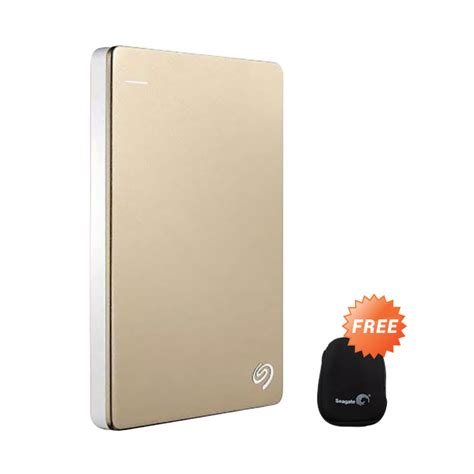 Seagate Backup Plus Slim Portable 5tb Hdd Eksternal 5 U1394 jual seagate backup plus slim portable gold disk eksternal 1 tb 2 5 inch softcase