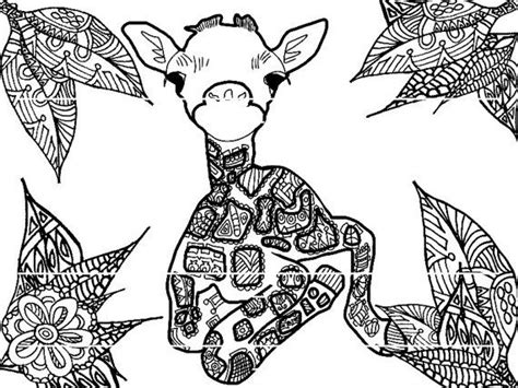 giraffe coloring page for adults baby giraffe coloring page by strawberrycraft on etsy