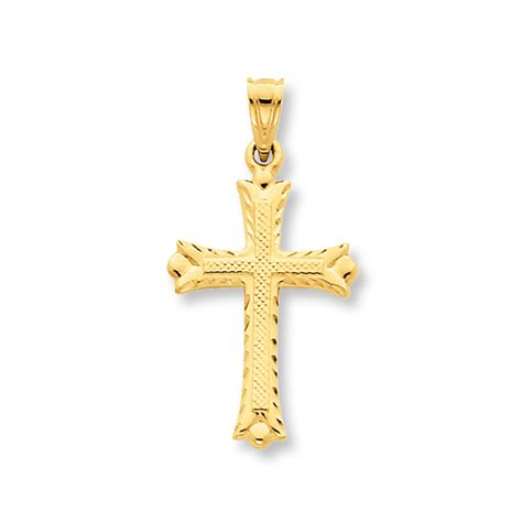 14k Yellow Gold Cross Charm cross charm 14k yellow gold