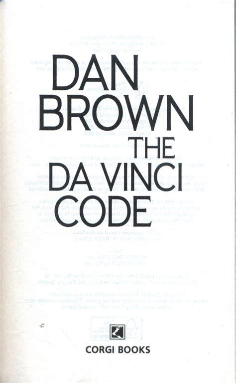 the da vinci code series 2 the da vinci code by brown dan 9780552173452 brownsbfs